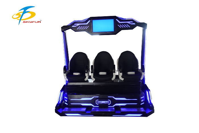 Three Person Operate 9D VR Simulator For Amusement Durable Leather Seat